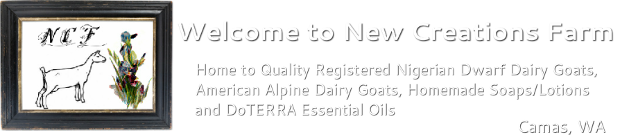 Registered Nigerian Dwarf Goats, Soaps, Lotions and  Do-Terra Essential Oils